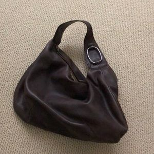Brown leather juicy couture handbag